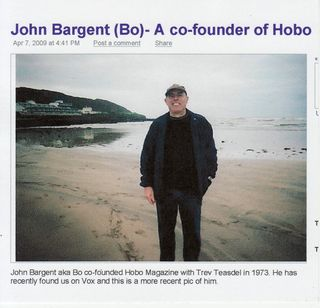 John Bargent (Bo) - Co- Founder of Hobo 1973