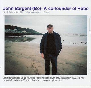John Bargent (Bo) - Co- Founder of Hobo 1973