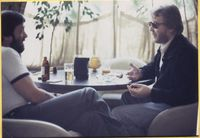 Colin Richardson Interviewing Harry Nilsson at the Algonquin Hotel