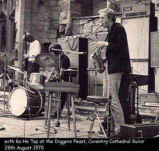 Ra Ho Tep (Tim James on Sax) at Diggers Concert