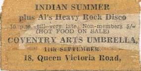 Indian Summer at Umbrella