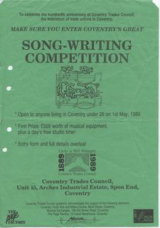 Cov songwriting comp 1989