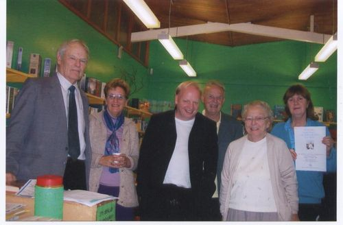 Trevor 2007 (black jacket) with former Creative Writing students