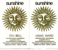 Sunshine Business cards 74
