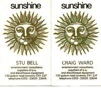 Sunshine Business cards 74