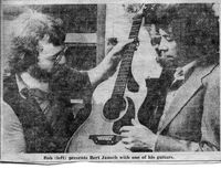 Rob Armstrong with Bert Jansch