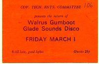 Walrus Gumboot ticket
