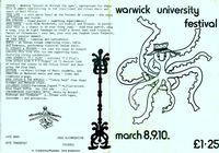 Warwick University Arts Fest 1974