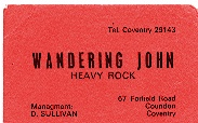 Wandering John band card