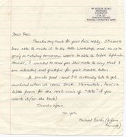Michael Curtis letter