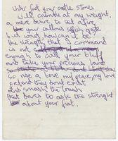 Al Docker Castle Stones manuscript 1 1972